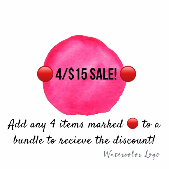 🔴 4/$15 SALE! 🔴
